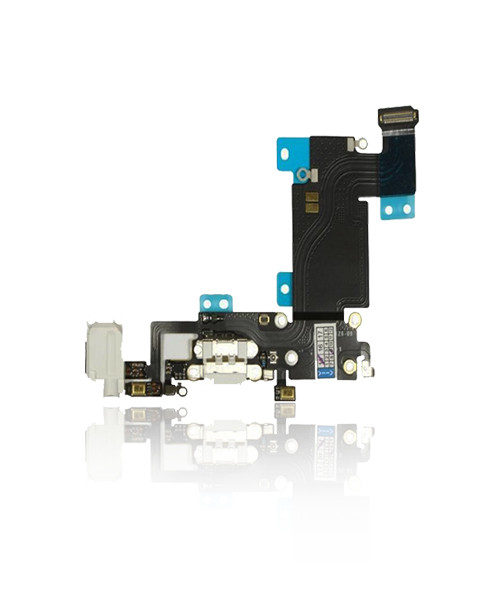 iPhone 6s Plus Charger Port Headphone Jack Replacement in White