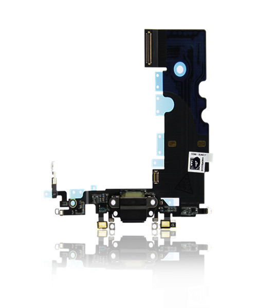 iPhone 8 Charger Port Headphone Jack Replacement in Black