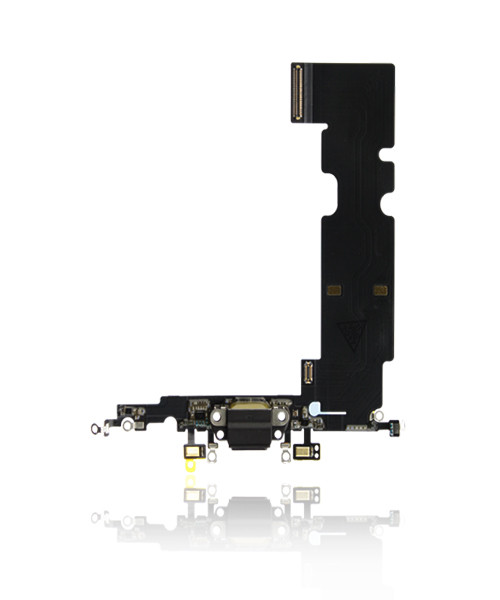 iPhone 8 Plus Charger Port Headphone Jack Replacement in Black.