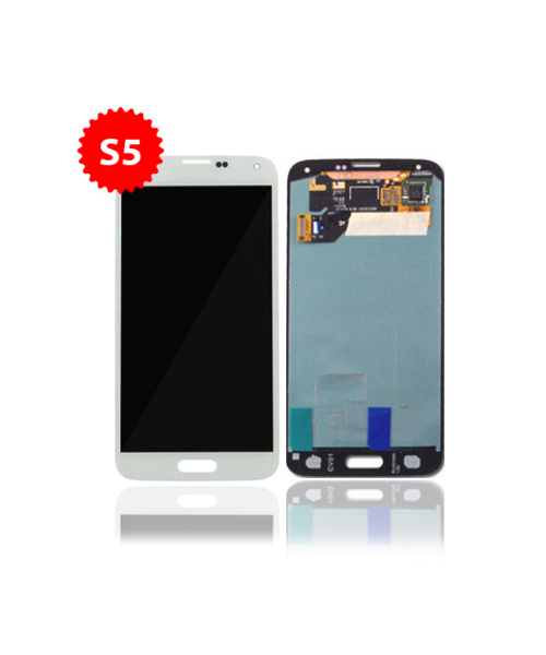 Lcd Replacment or Samsung Galaxy S5 Without Frame in White