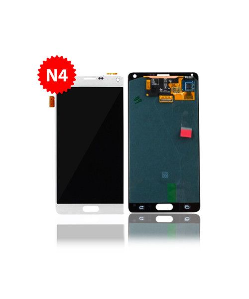 Lcd Replacment for Samsung Galaxy Note 4 Without Frame in White