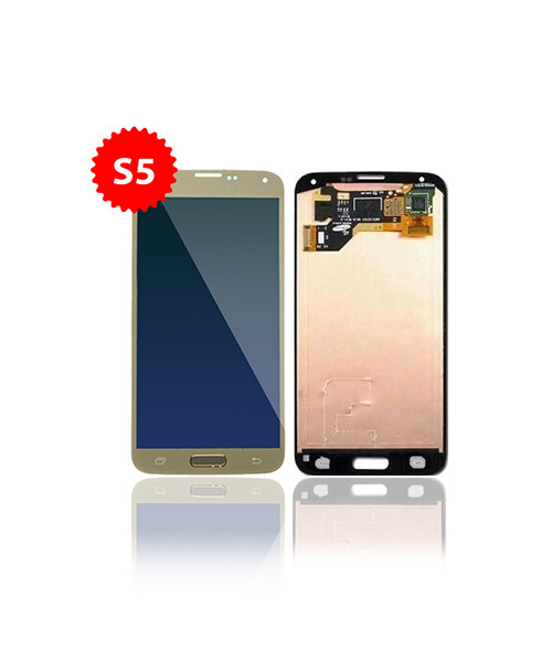 Lcd Replacement for Samsung Galaxy S5 Without Frame in Gold