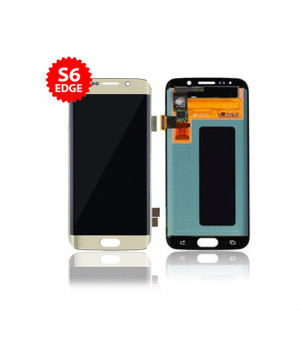 Lcd Replacement for Samsung Galaxy S6 Edge Without Frame in Gold