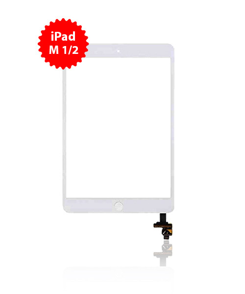 Digitizer Replacement for iPad Mini 1/2 Premium Quality in White