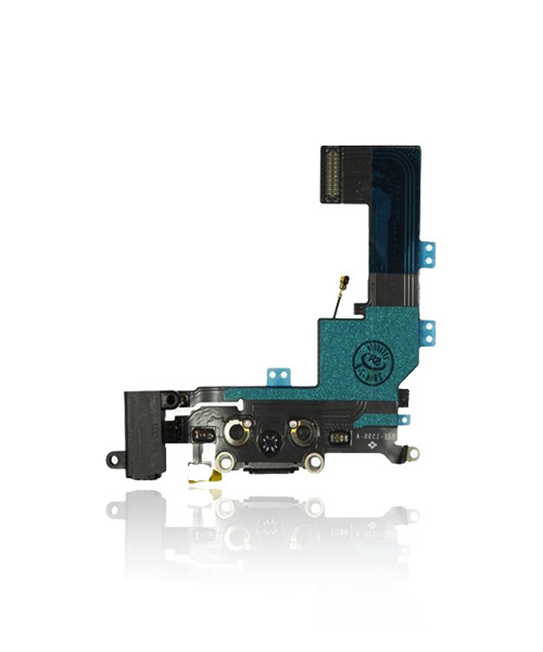 iPhone 5s Charger Port Headphone Jack Replacement in Black