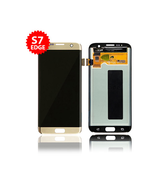 LCD Replacement for Samsung Galaxy S7 Edge Without Frame in Gold