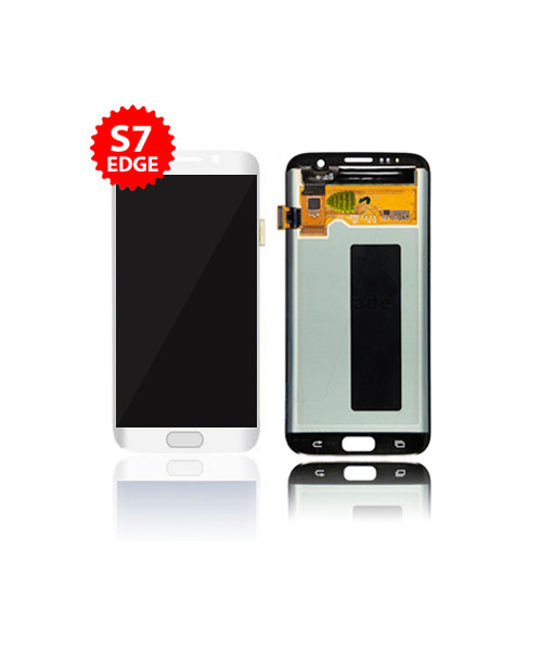 LCD Replacement for Samsung Galaxy S7 Edge Without Frame in White