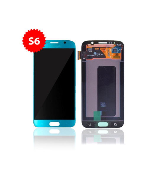 Lcd Replacement for Samsung Galaxy S6 Without Frame in Topaz Blue