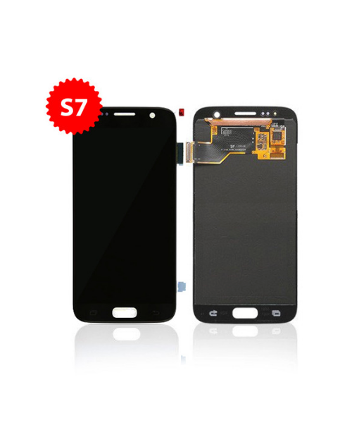 LCD Replacement for Samsung Galaxy S7 Without Frame in Black Sapphire
