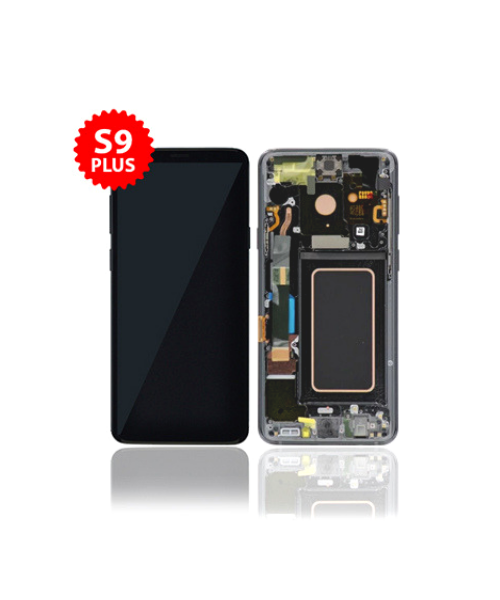 LCD Replacement for Samsung S9 Plus With Frame in Gray