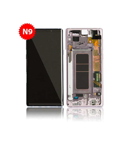 Lcd Replacement for Samsung Galaxy Note 9 With Frame in Purple
