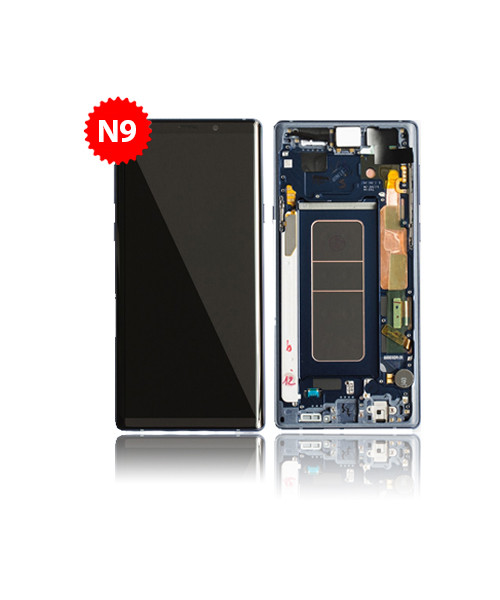 Lcd Replacement for Samsung Galaxy Note 9 With Frame in Ocean Blue