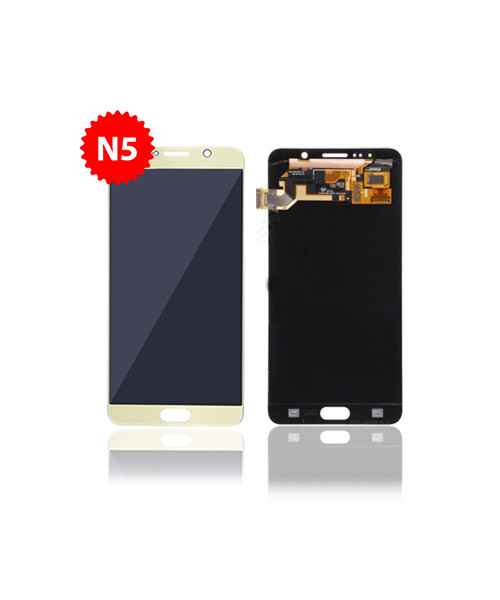 Lcd Replacement for Samsung Galaxy Note 5 Without Frame in Gold