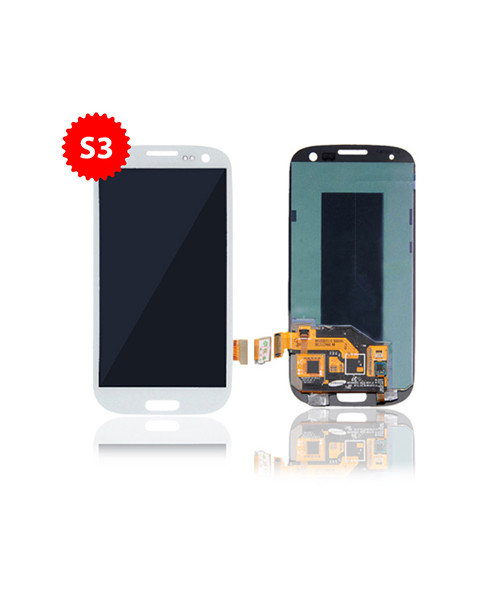 Lcd Replacment for Samsung Galaxy S3 Without Frame in White