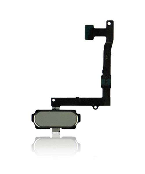 Samsung Galaxy S6 Edge Plus Home Button Flex Cable Replacement in White.