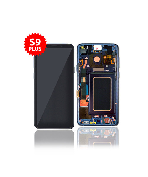 LCD Replacement for Samsung S9 Plus With Frame in Coral Blue