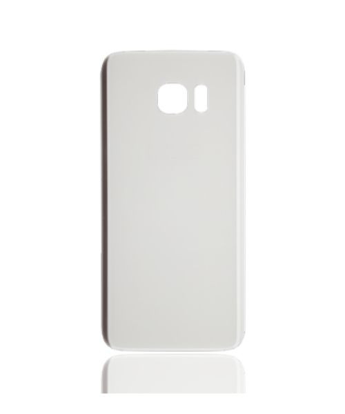Samsung Galaxy S7 Edge Back Battery Cover Replacement in White.